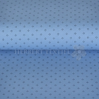 Piqué Polo print dots blue KC2053-706