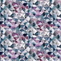 French Terry Digitalprint moody triangle pink blue 06688-008